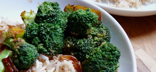 sweet and sticky five-spice broccoli