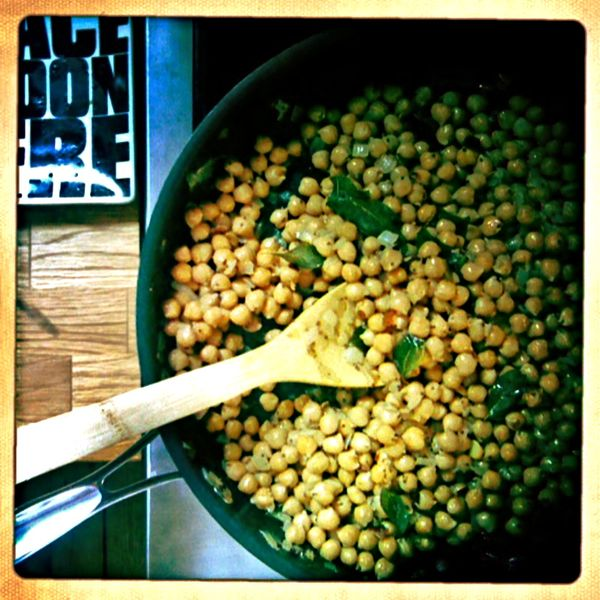 what i'm cooking: fried chickpeas, parsley soup, grilled vegetables with paprika oil