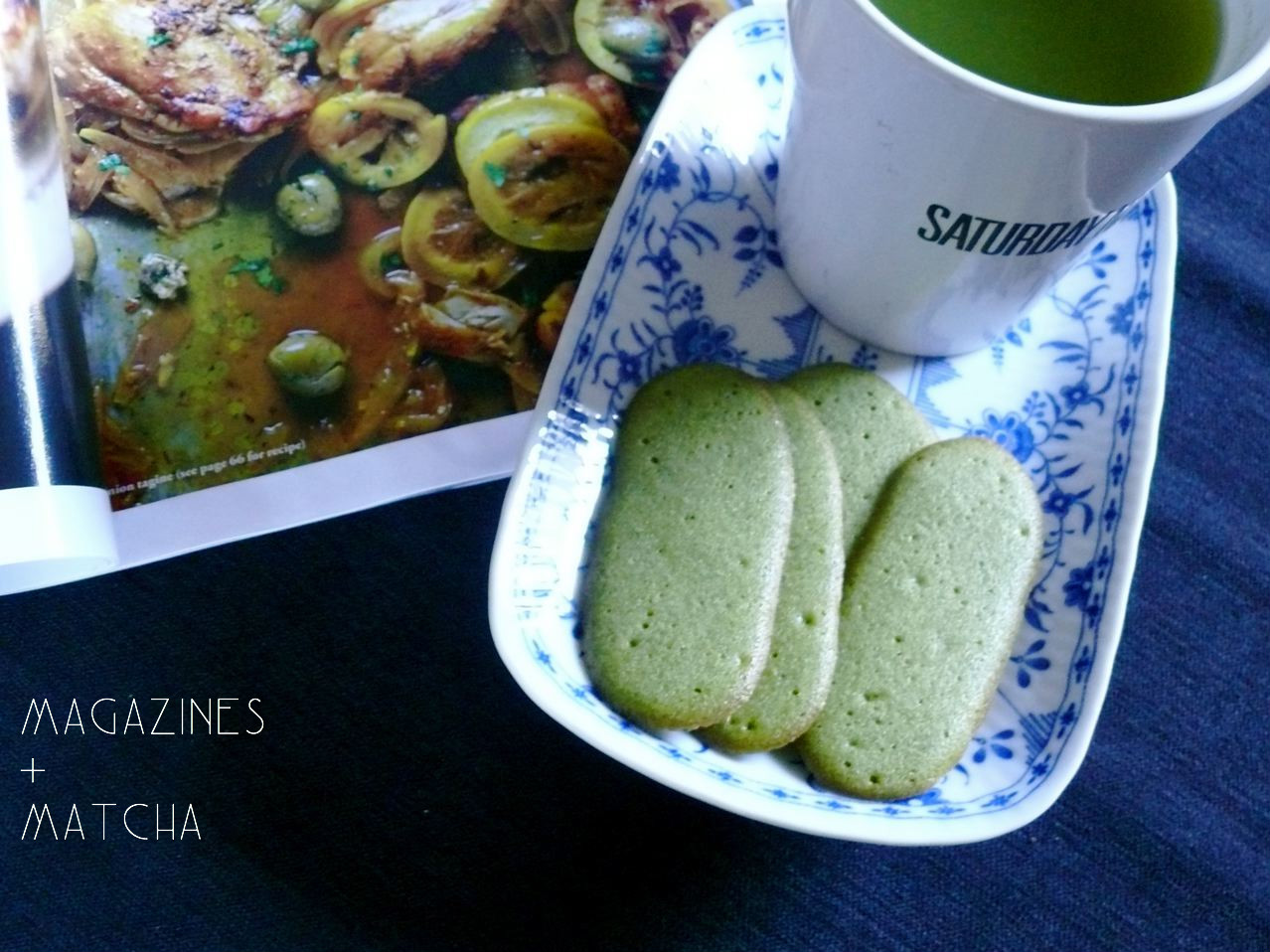 day 6: green tea butter cookies (langues de chat!)