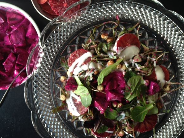 weekend class: roasted beet and blood orange salad