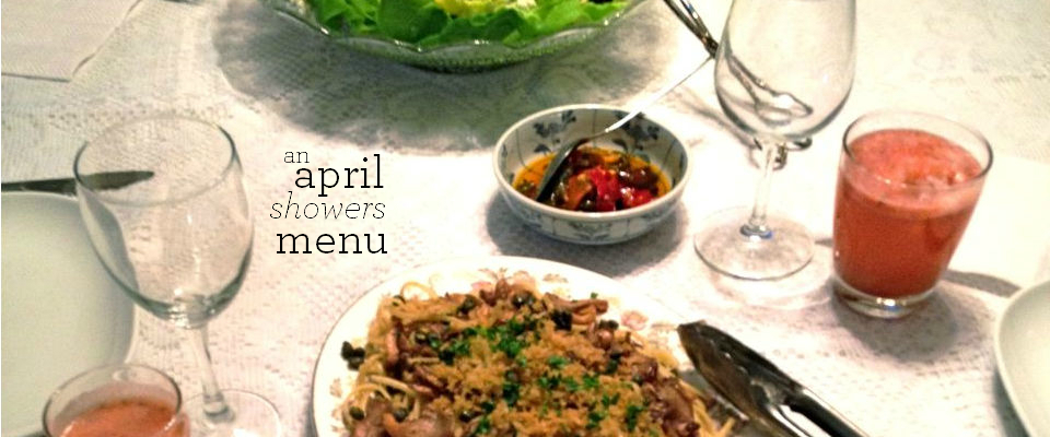 an april showers menu